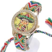 Geneva Watch Women vintage Mexican Mariachi Ethnic Rhinestone Style dial