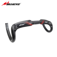 Ullicyc Full Carbon Matt Gloss Logo Finish Red Full Carbon Fiber Road Handlebar Bent Bar With