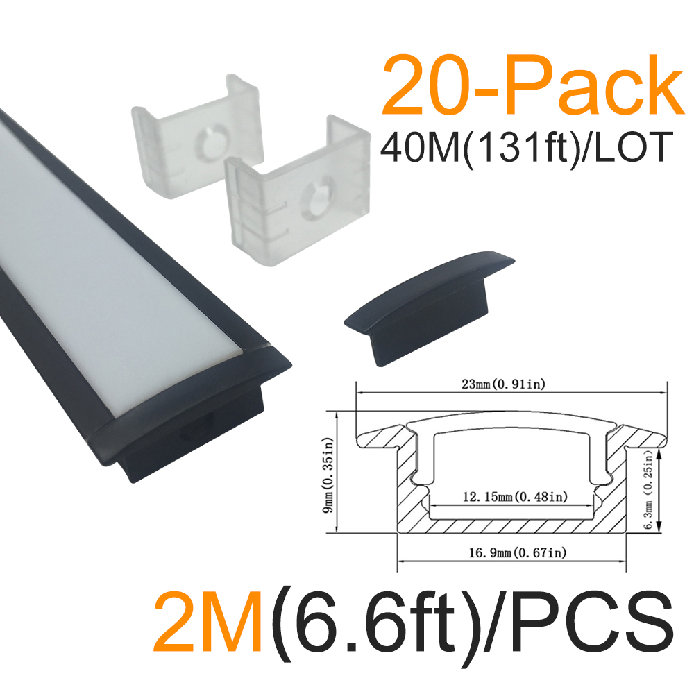 40 մ / լոտ 20x2m (6.6ft) U Shape Led ալյումինե - LED լուսավորություն - Լուսանկար 1