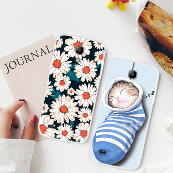 For Samsung Galaxy S4 Mini Case Animal Flowers Painted Back Cover TPU Soft Silicone Case For Samsung S4 Mini Coque Capa Funda image