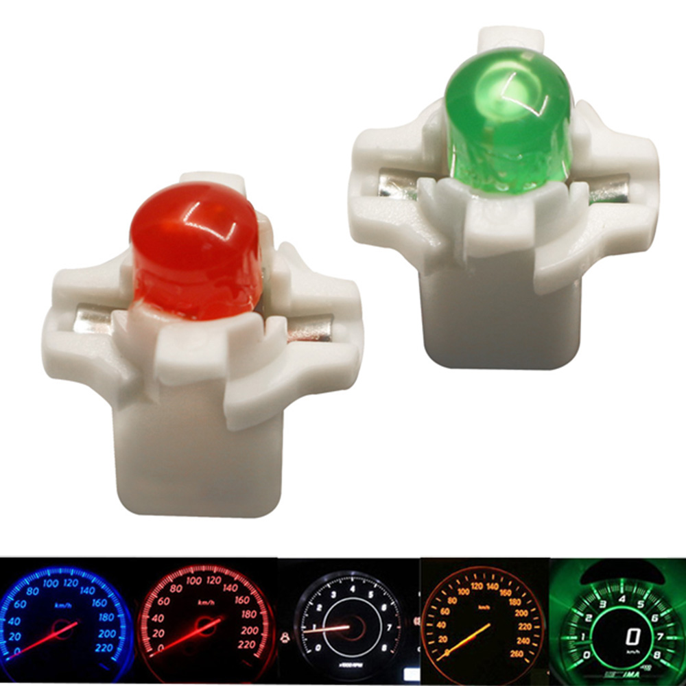 YSY 50x B8.4D B8.3D Car LED COB Instrument Dashboard Lights 12V Dashboard Warning Indicator Lamp Bulb Lights White Red Yellow