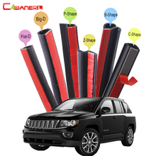 Cawanerl Car Rubber Seal Strip Kit Noise Insulation Seal Edge Trim Weatherstrip Self-Adhesive For Jeep Compass Patriot Liberty