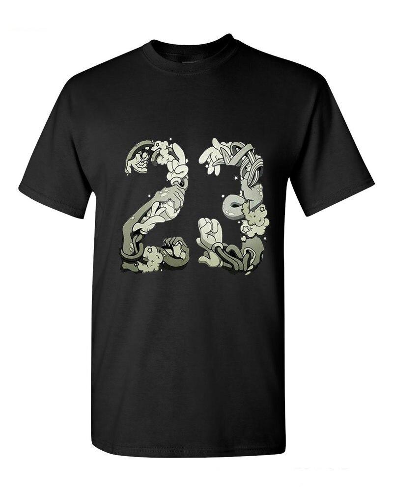 Mens Short Sleeve 100% Cotton Hip Hop T-shirt Print Space Jam 23 T-Shirt