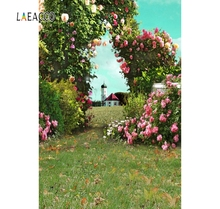 Laeacco Garden Green Flowers Wedding Vines Spring scenic Kid Photography Backgrounds Customize Photographic Backdrops For Photo