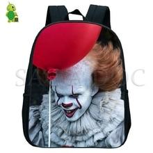 Pennywise Clown Backpack Horror Movie Clown Kids Small Bags Children School Bags Boys Girls Primary Kindergarten Backpack