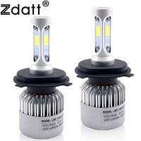 2Pcs H4 LED Bulb Headlight 72W 8000LM Car LED Lights Hi Lo Beam Lamp 6500K White