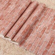 цена на papel parede papel de parede 3d Brick wallpaper for walls 3d wall paper for living room adesivo de parede Bedroom tv background