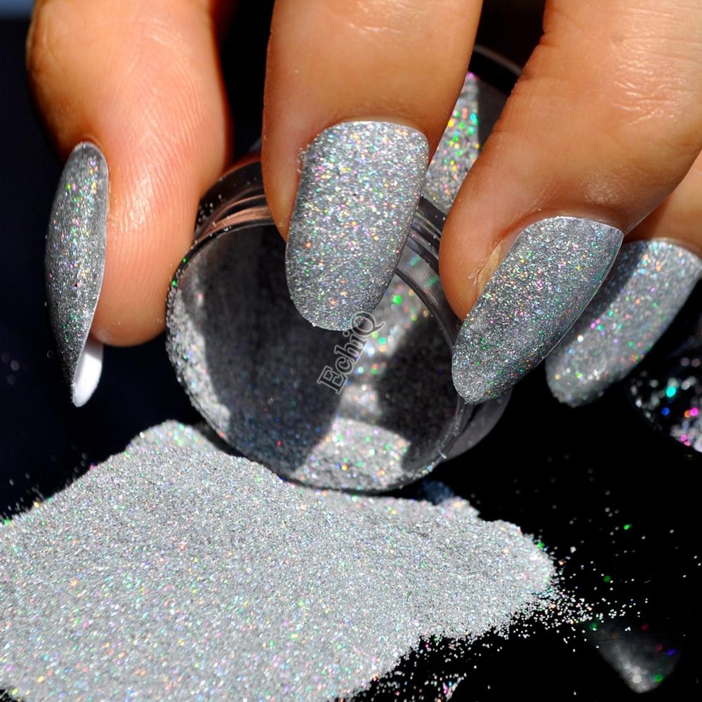 1/256\' Small Nail Art Glitter Sparkle Holographic Silver Glitter ...