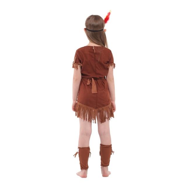 Disfraz de princesa india para niños, disfraz de arquero nativo para niñas, Disfraces de Halloween, fiesta de Carnaval Purim, vestido elegante
