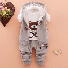 3 Pièces 0-deux Années bébé vêtements set 100% coton bébé garçon vêtements cartoon infantile filles tenues minnie enfant enfants sport costume