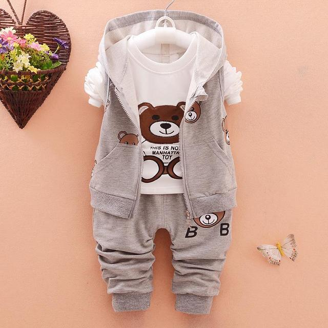 3Pieces 0-2Years baby clothing set 100% cotton baby boy clothes cartoon infant girls outfits minnie toddler kids sport suit