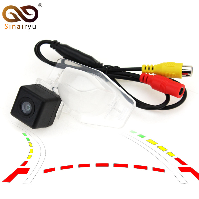 Sinairyu HD COMS Dynamic Trajectory Parking Line Car Reverse Backup Rear View Camera For Honda CRV CR-V Odyssey 07-11