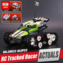 Lepin 20033 397pcs new Technic Series The RC Track Remote control Race Car Set Educational Building