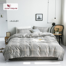 SlowDream 100% Cotton Bedding Set Double Queen King Size Bed Linens Flat Sheet Pillowcase Bedspread Mans Adult Japan Style