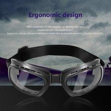 Складные винтажные мотоциклетные очки, ветрозащитные очки, лыжные очки для сноуборда, очки для внедорожных гонок, пылезащитные очки