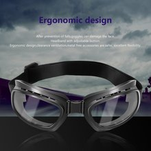 Foldable Vintage Motorcycle Glasses Windproof Goggles Ski Snowboard Glasses Off Road Racing Eyewear Dustproof Goggles