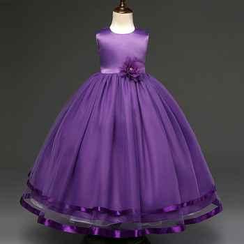 EMS DHL Free shipping little girls princess Dress Prom Party Dress Sorsage Sleelvess bosom Dress 4-10Y Valentine\'s Day Dress