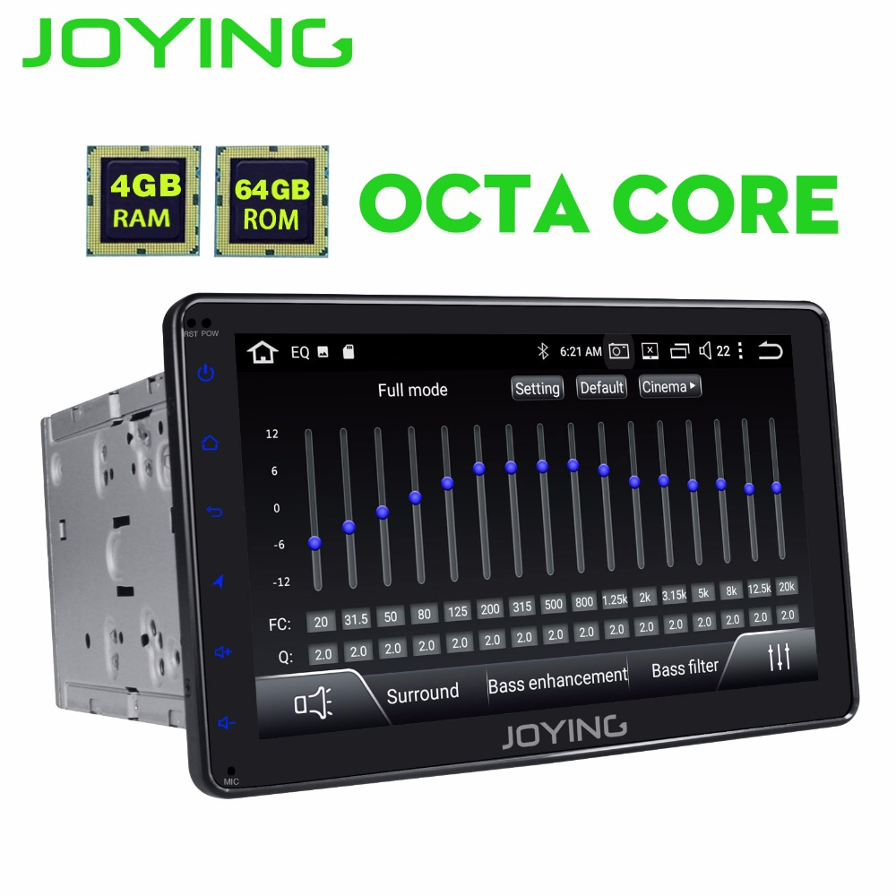 JOYING 8 ''2 Din 4 gb di RAM 64 gb ROM 8 CORE Android 8.1 autoradio registratore a cassette stereo GPS unità di testa multimedia DSP Subwoofer