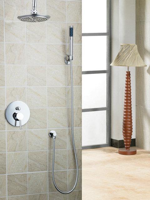 nouveau montage au plafond pluie douche pommeau de douche fix au mur douche main baignoire. Black Bedroom Furniture Sets. Home Design Ideas