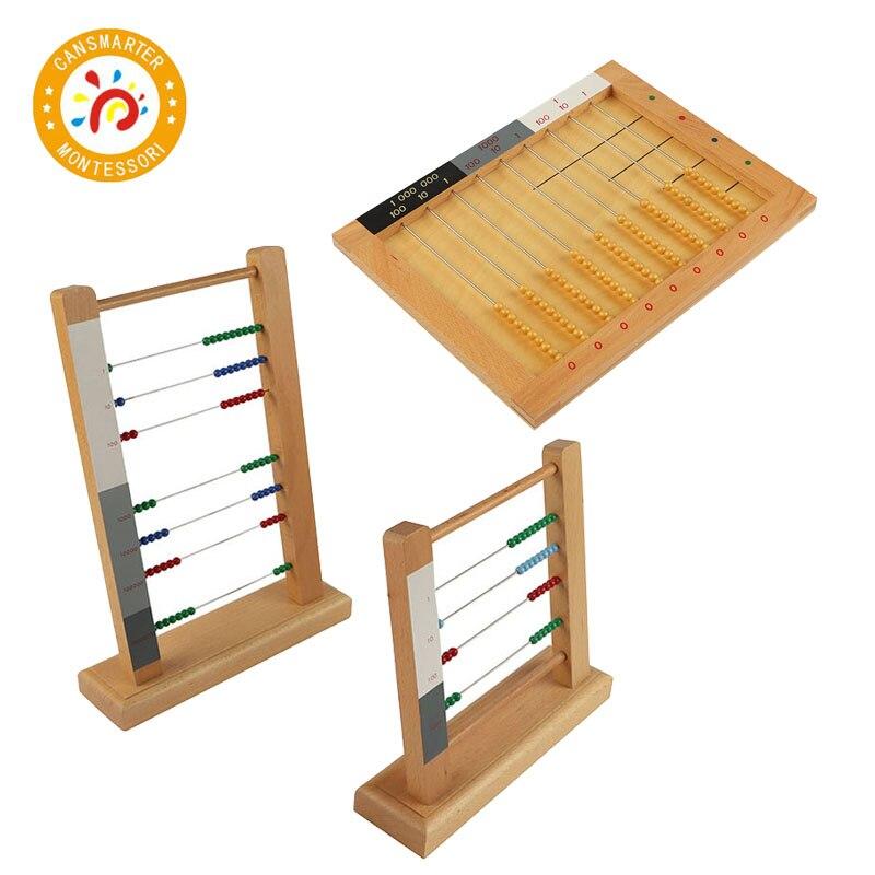 Montessori Kids Toy Wood Bead Frame Abacus Learning Calculate Educational Preschool Training