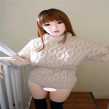 138cm japoński seks lalka duże piersi prawdziwy pełny wymiar silikonowy pasek lalka erotyczna ze szkieletem, oral pochwy kot anal dorosłych lalki TPE