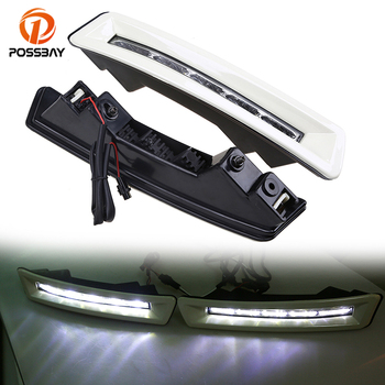 POSSBAY Car LED Daytime Running Lights White DRL Daylight for Toyota Prado J150 2010-2013 Pre-facelift Land Cruiser 2700/4000