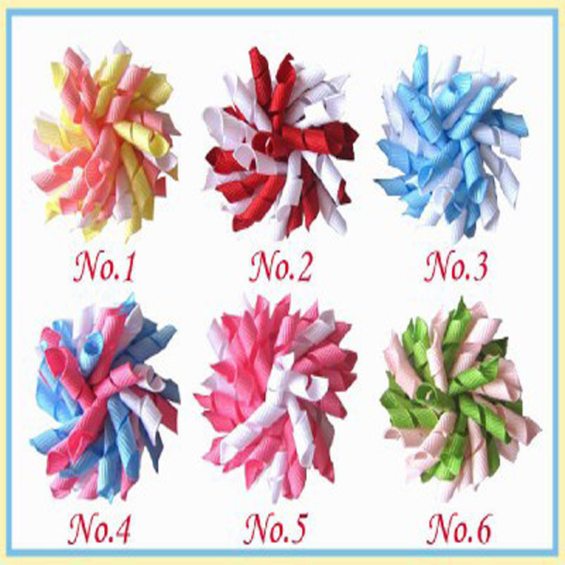"16 BLESSING Good Girl Boutique 4/"" Pompon Hair Bows Clip Accessories Flower"