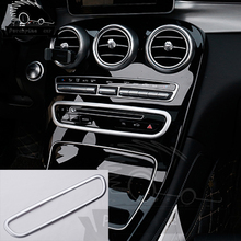 ABS Car Styling Center Control CD Button Decoration Sticker For Mercedes C W205 GLC Auto Accessories
