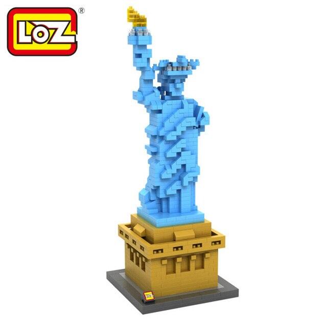 loz diamond blocks world famous architecture statue of liberty mini