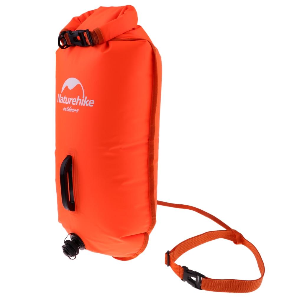 Adult Children Swim Buoy Safety Tow Float Dry Bag with Adjustable Waist Belt