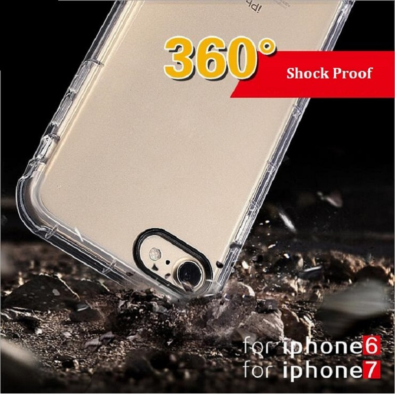 Latest Collection Of 2pcs For Iphone 7 8 Case Shockproof Strongly Prevent 7plus Phone Cases For Iphone X 6s 7 8 Plus Transparent Clear Soft Tpu Cover Boys' Shoes Clothes, Shoes & Accessories