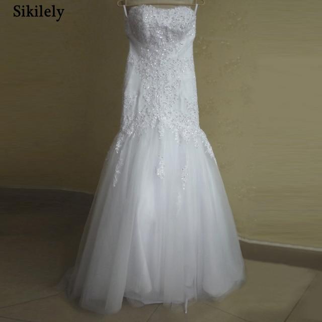 Sikilely Real vestido de Novia de Encaje Apliques Rebordear 2015 ...