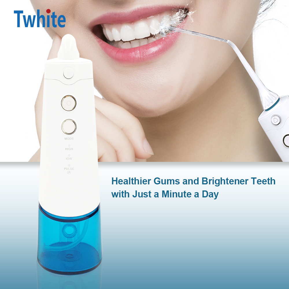 High End Electric Oral Irrigator USB Rechargeable Water Flosser Portable Dental Water Jet 300ML Teeth Whitening Irrigation-in Oral Irrigators from Home Appliances    3