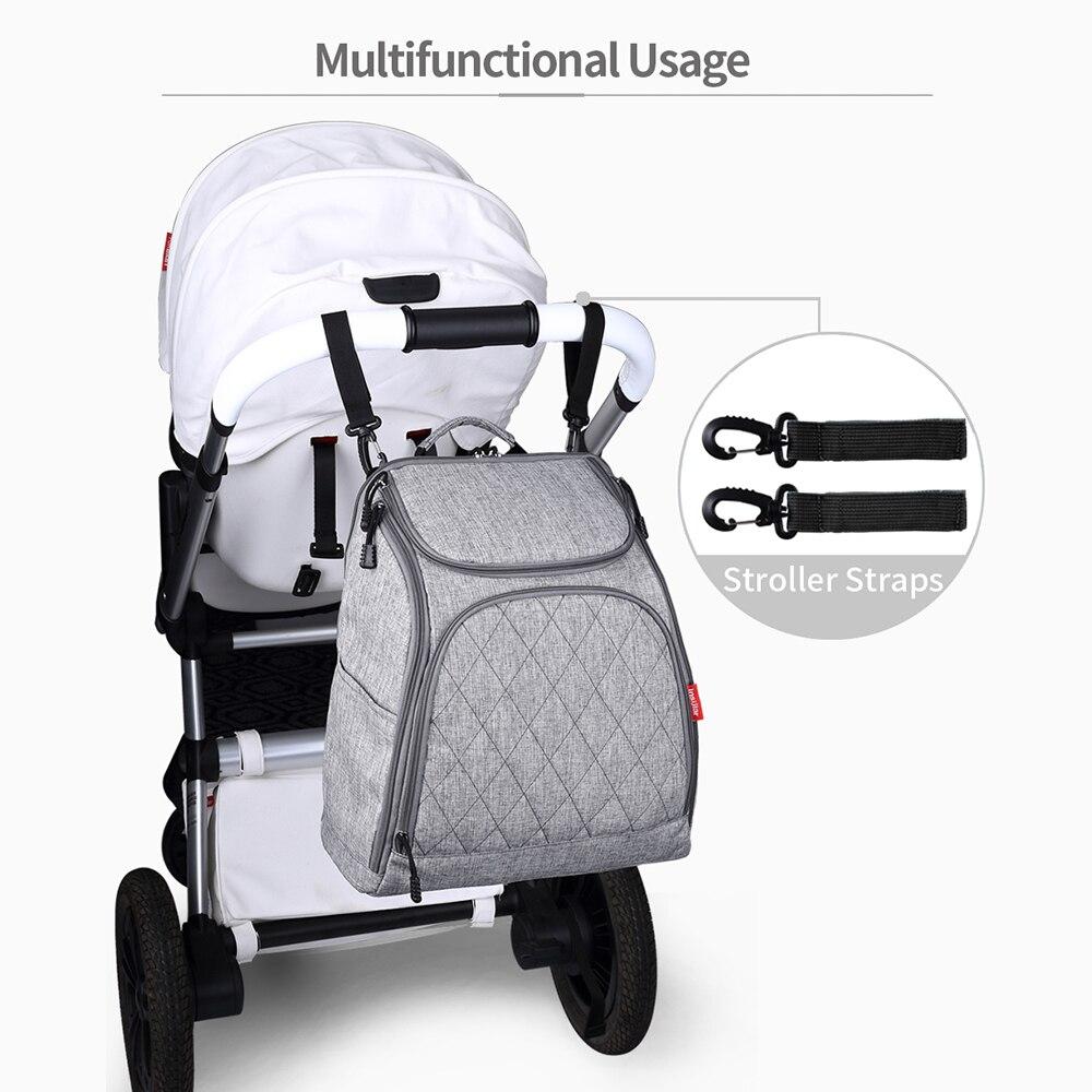 Bolsas de pañales de bebé insular Bolsas de cochecito de pañales - Pañales y entrenamiento para ir al baño - foto 5