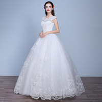 2019 Vestido de Noiva Sexy Lace Short Sleeve Wedding Dress China Wedding Dresses Bohemian Ball Gown Casamento Wedding Dress