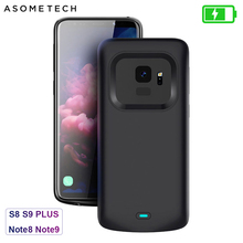 Battery Case For Samsung Galaxy S9 S8 Plus Battery Power Wireless Charging Powerbank Case Power Bank For Samsung Note 8 Note 9