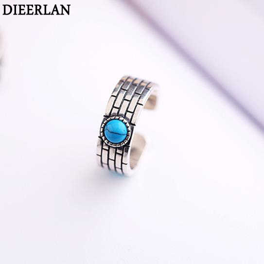 Vintage Real Pure 925 Sterling Silver Width Rings for Women Adjustable Size Ring Fashion sterling-silver-jewelry