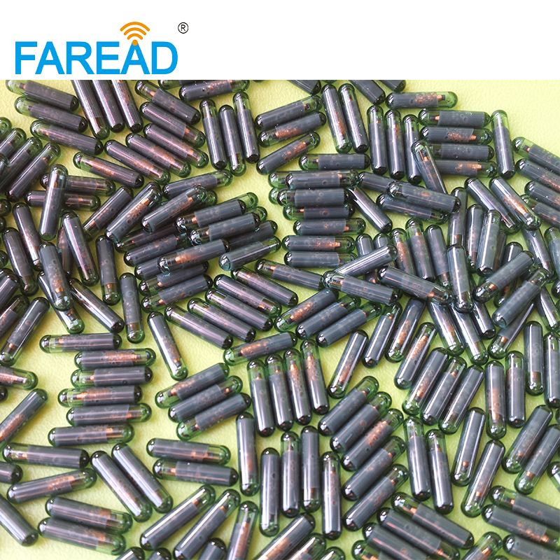 Free Shipping X30pcs 2.12*12mm ISO11784/5 EM4305 RFID Animal Microchip ICAR Number