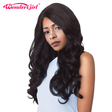 Wonder girl Glueless Lace Front Human Hair Wigs For Black Women Malaysian Body Wave Pre Plucked
