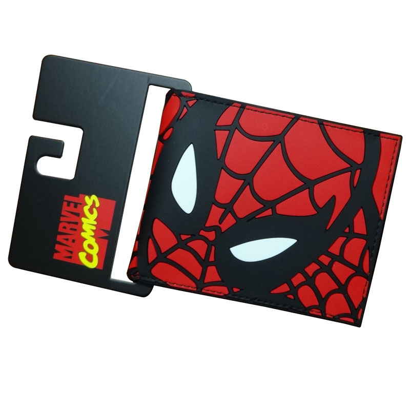 Hot Selling Spiderman Wallets Lovely Cartoon Anime Hero Spider-men Batman Captain America Purse Dollar Price PVC Short Wallet 2018 new designer wallet spiderman pu leather card bags men casual purse gift anime cartoon spider pvc short wallets portafoglio