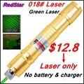 [ReadStar] RedStar 018 высокое 1 Вт ожог зеленая лазерная указка Лазерная ручка звездное крышка Золотой стиль лазера только без аккумулятор и зарядное устройство