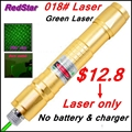 [ReadStar]RedStar 018 high 1W burn green laser pointer Laser pen  starry cap Golden style laser only without battery and charger