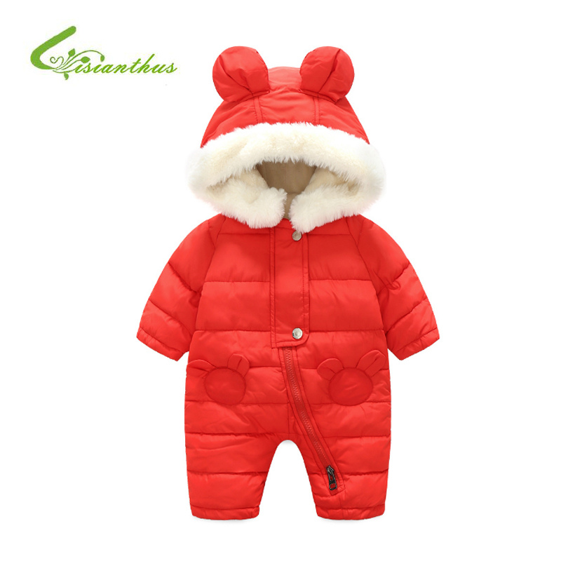 High Quality Baby Rompers Winter Thick Cotton Boys Costume Girls Warm Clothes Kid Jumpsuit Cute Children Outerwear Baby Wear autumn winter baby clothes cartoon cotton thick warm infant jumpsuit clothing baby boys girls rompers overalls good quality