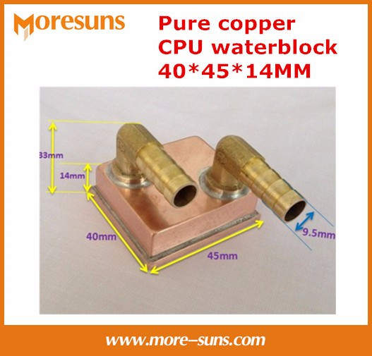 Free shipping  1152 micro channel all welded copper column bottom Pure copper 40*45*14MM water-cooled CPU waterblock