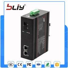 1FX2TX 100 M carril din conmutador de fibra óptica a 2 rj45 administrado industrial ethernet switch