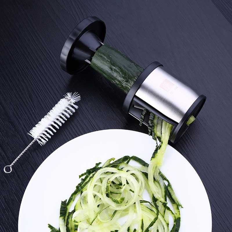 Stainless steel vegetable fruit grinder spiral slicer knife carrot cucumber zucchini kitchen tool gadget in Kitchen Gadget Sets from Home Garden