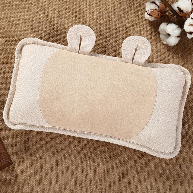 1 Pcs 100% Do Bebê Do Algodão Almofadas Super Macio Proteção de Pescoço Travesseiro de Saúde Memória Travesseiro Lavável e Removível