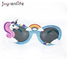 JOY-ENLIFE 1 pcs Engraçado Unicórnio Estilo óculos de Sol Máscara Hen  Photobooth Adereços da Festa de Aniversário Festa de Casam. 5f0aa3032d