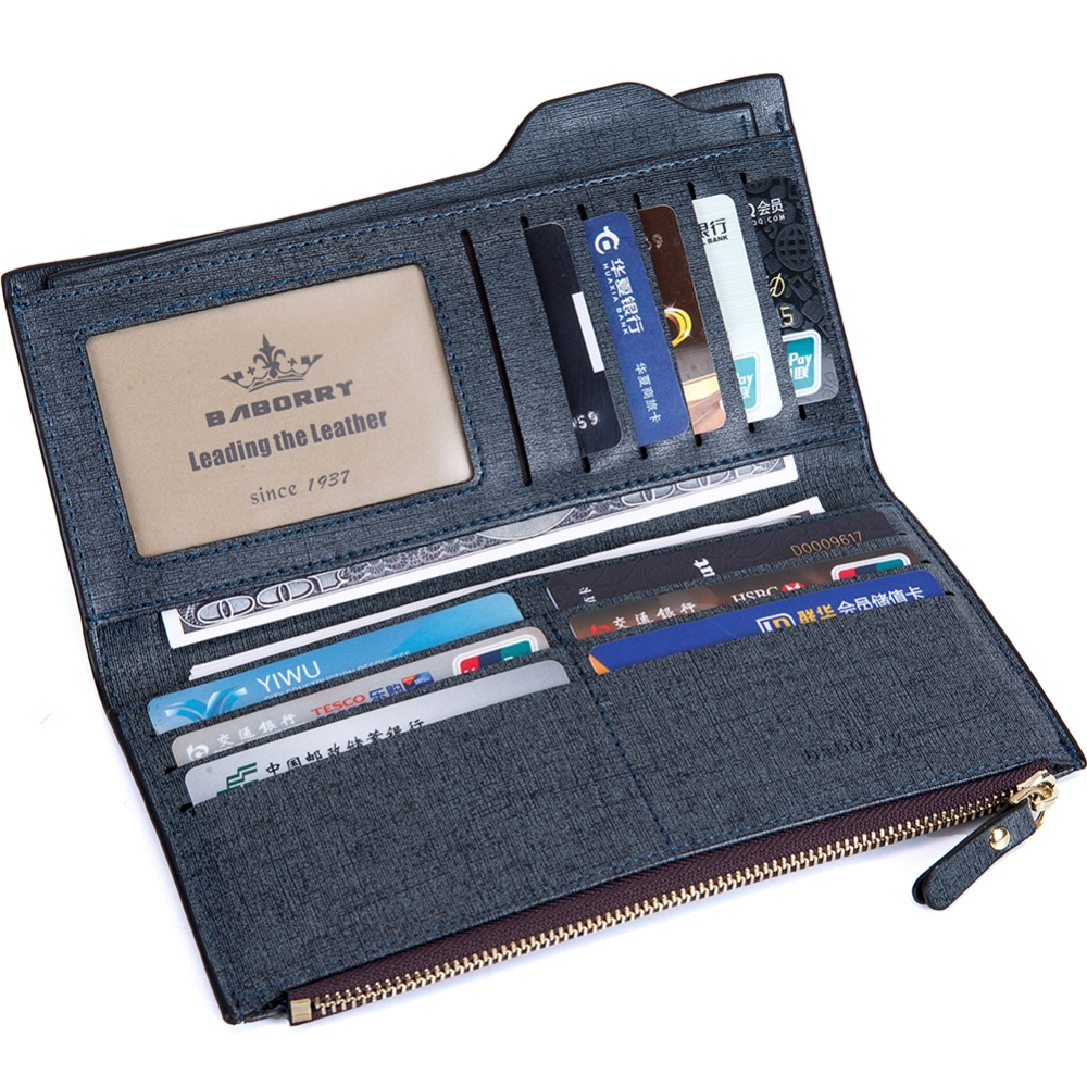 Brand PU for men american style geometric button standard short wallet packaging prada purse mandu trifold wallet for men