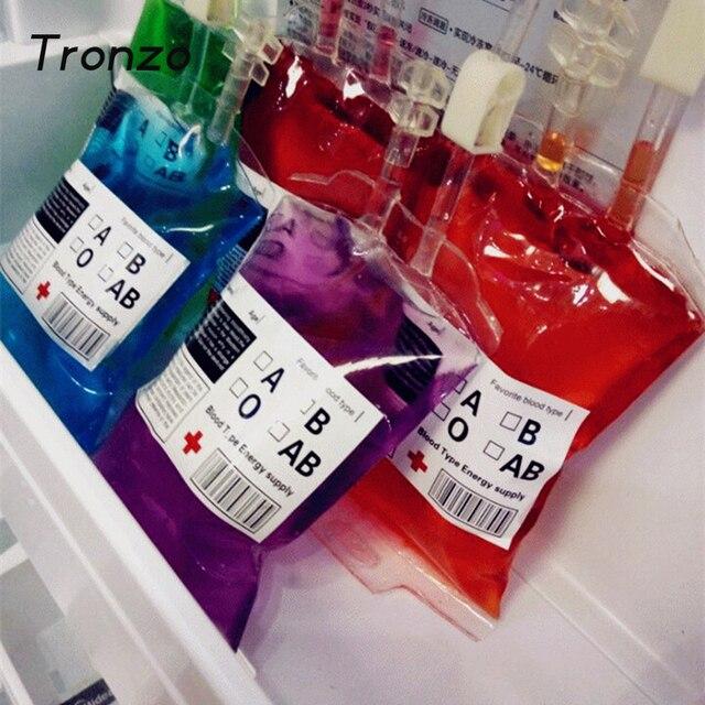 Tronzo 5pcs Food Grade Pvc Drink Bag The Vampire Diaries Cosplay Blood Props